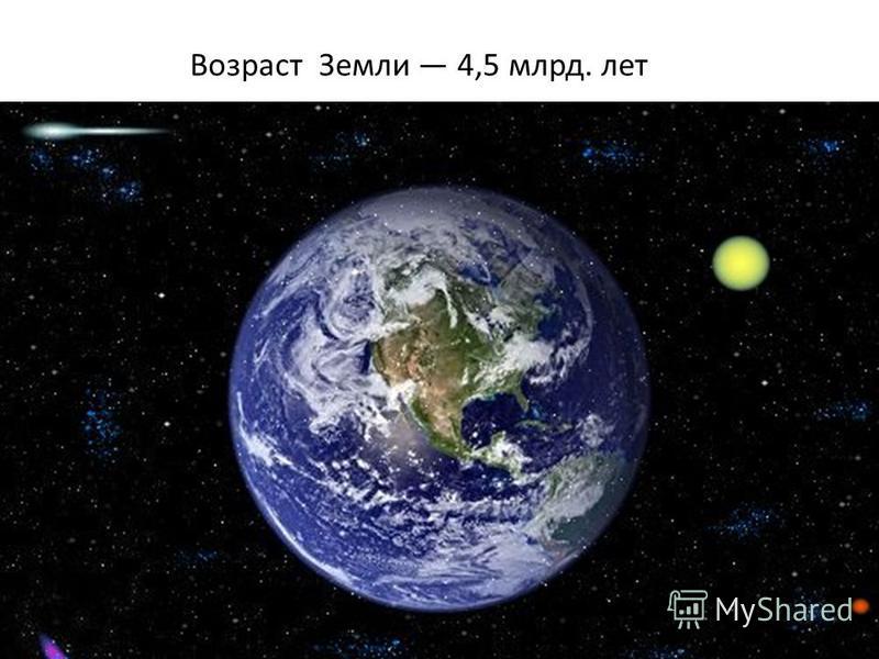 Возраст Земли 4,5 млрд. лет