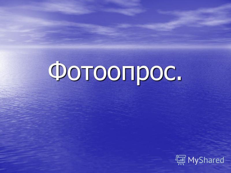 Фотоопрос.