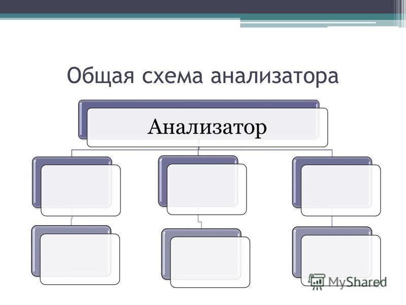 Общая схема анализатора Анализатор