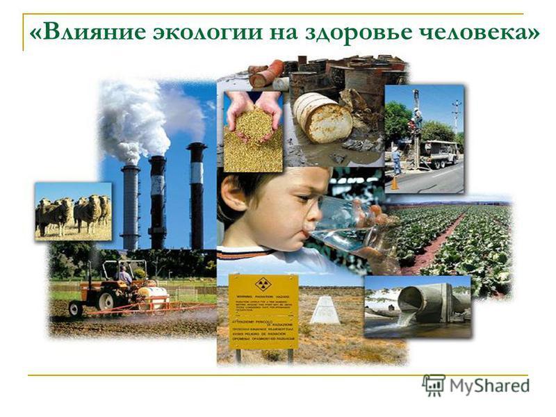 «Влияние экологии на здоровье человека»