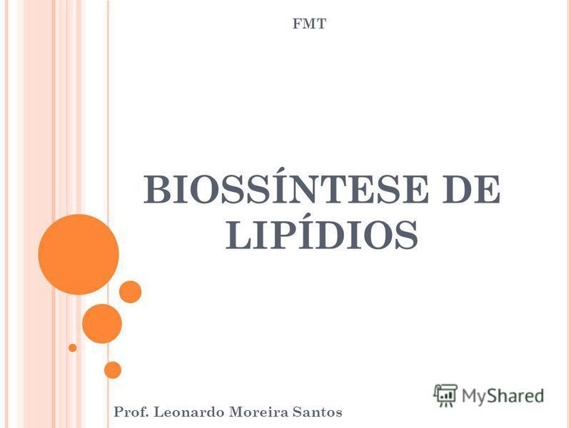 BIOSSÍNTESE DE LIPÍDIOS Prof. Leonardo Moreira Santos FMT