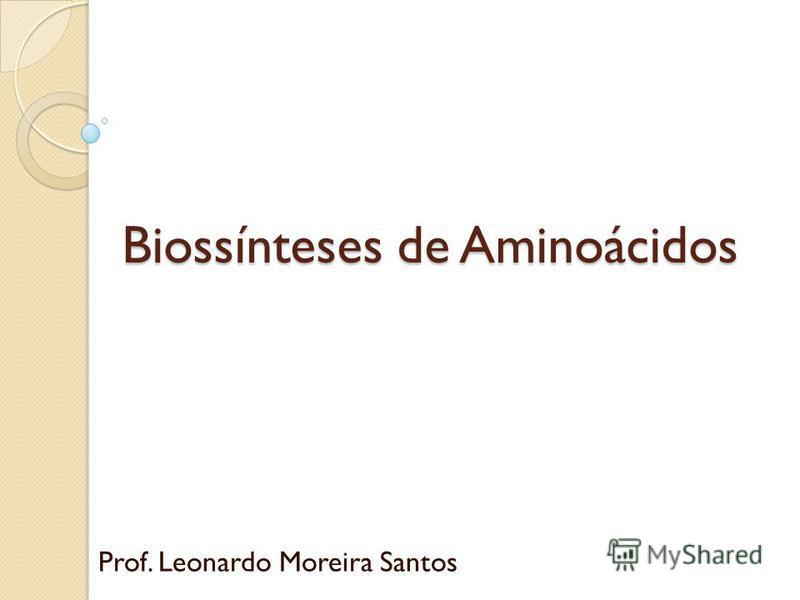 Biossínteses de Aminoácidos Prof. Leonardo Moreira Santos