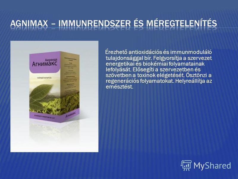 Érezhető antioxidációs és immunmoduláló tulajdonsággal bír. Felgyorsítja a szervezet energetikai és biokémiai folyamatainak lefolyását. Elősegíti a szervezetben és szövetben a toxinok elégetését. Ösztönzi a regenerációs folyamatokat. Helyreállítja az