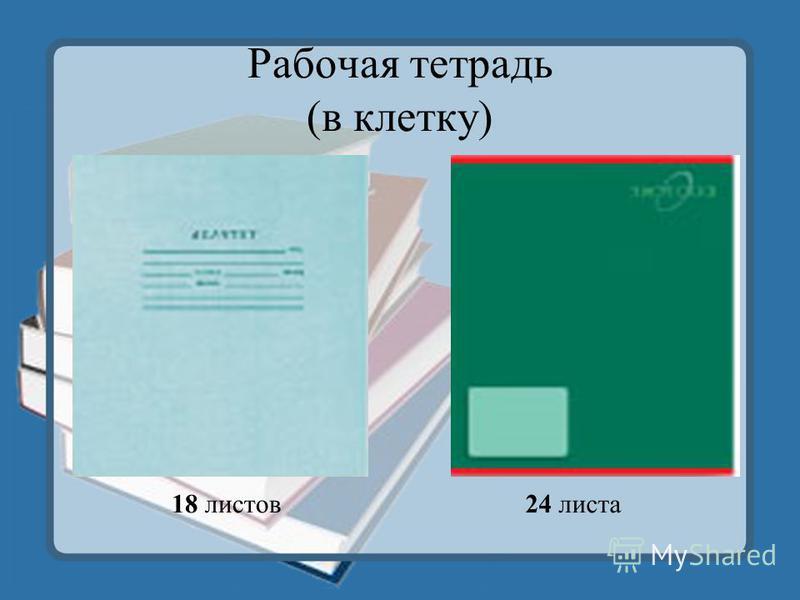 Рабочая тетрадь (в клетку) 18 листов 24 листа