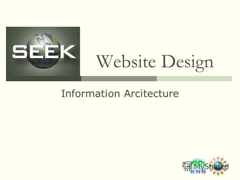 Website Design Information Arcitecture