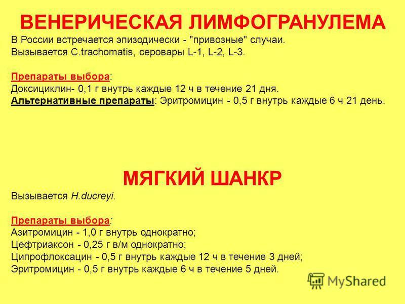ВЕНЕРИЧЕСКАЯ ЛИМФОГРАНУЛЕМА В России встречается эпизодически -