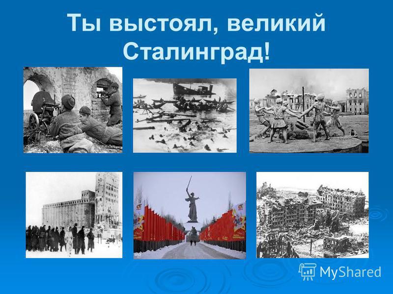 Ты выстоял, великий Сталинград!