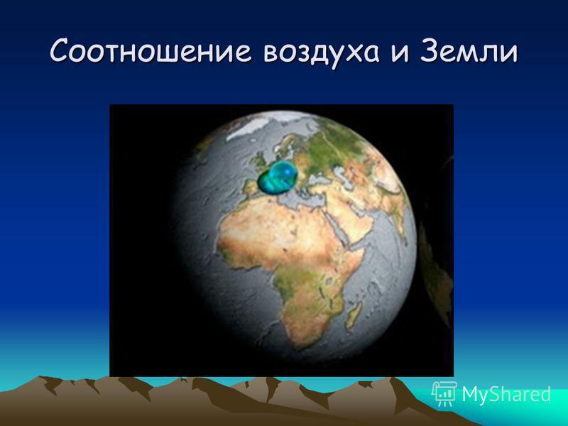 Соотношение воздуха и Земли