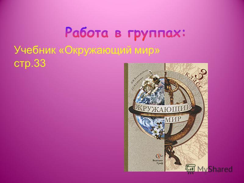 Учебник «Окружающий мир» стр.33