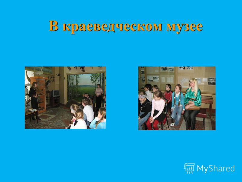 В краеведческом музее В краеведческом музее