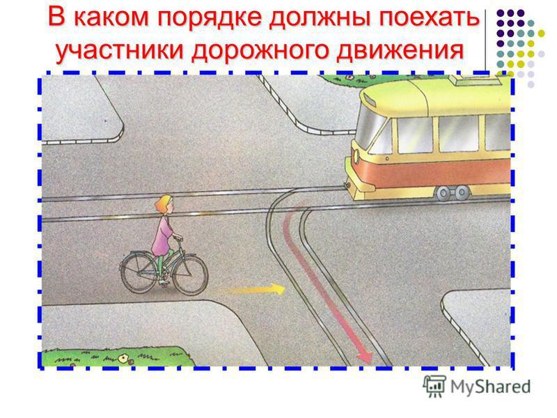 В каком порядке должны поехать участники дорожного движения участники дорожного движения