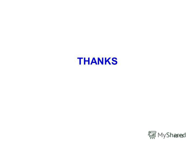 13/13 THANKS