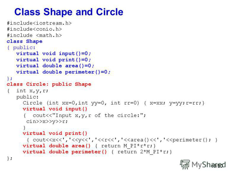 18/30 Class Shape and Circle