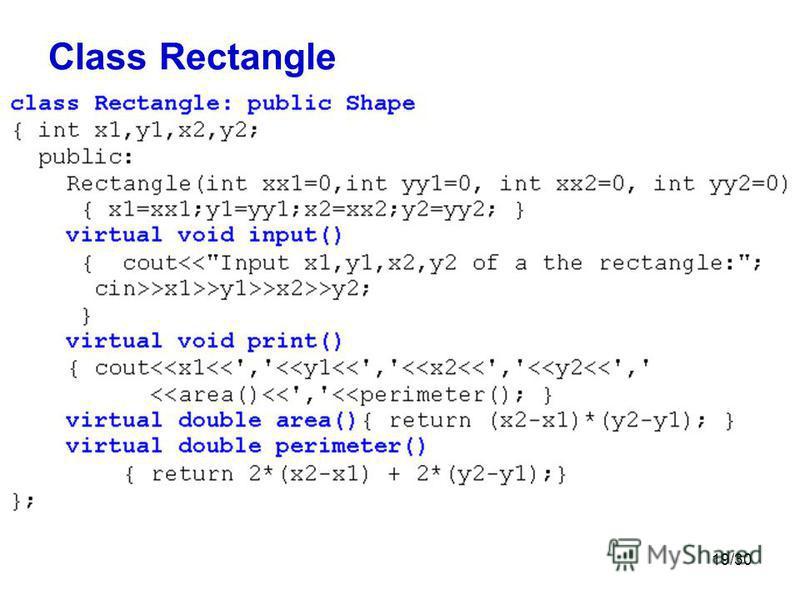 19/30 Class Rectangle