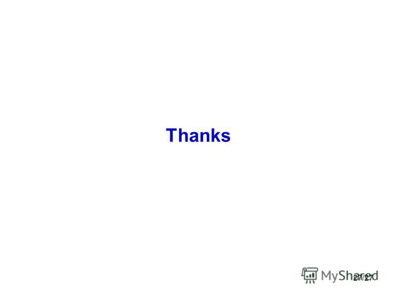 27/27 Thanks
