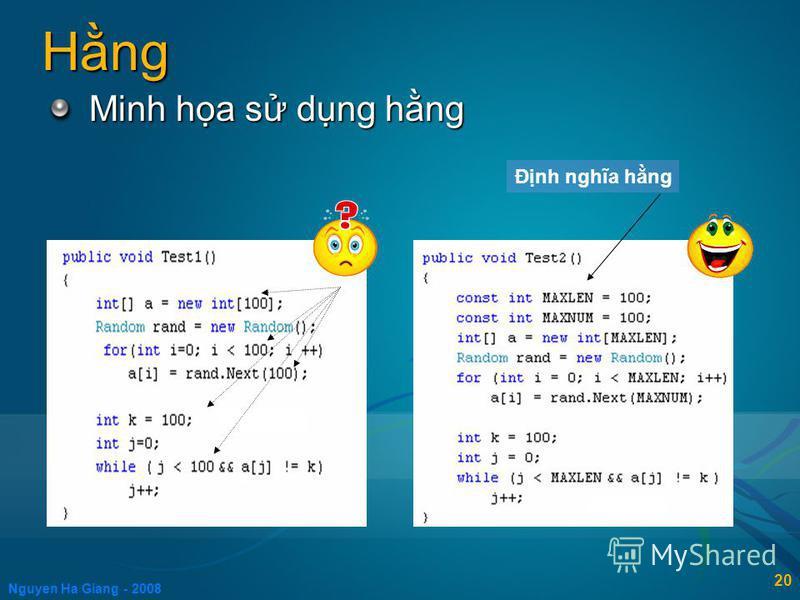 Nguyen Ha Giang - 2008 20 Hng Minh ha s dng hng Đnh nghĩa hng