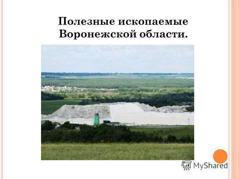 Полезные ископаемые Воронежской области.