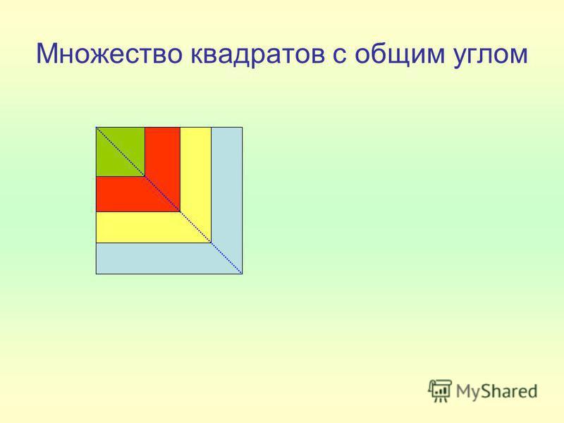 Множество квадратов с общим углом