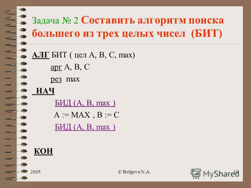 2005© Bolgova N.A.9 АЛГ фигура НАЧ СКОБКА поворот СКОБКА поворот СКОБКА поворот СКОБКА КОН