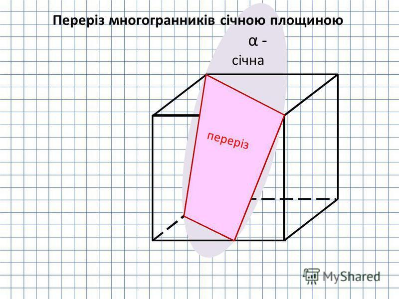 α - січна переріз Переріз многогранників січною площиною