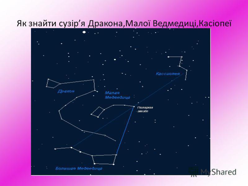 Як знайти сузіря Дракона,Малої Ведмедиці,Касіопеї
