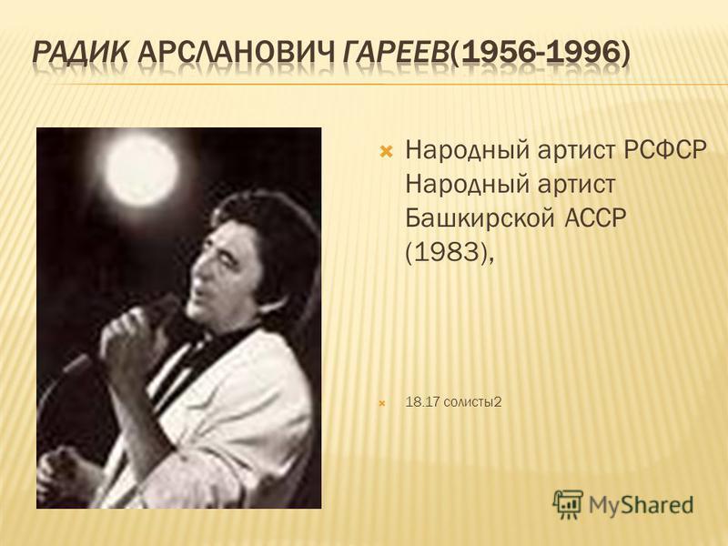 Народный артист РСФСР Народный артист Башкирской АССР (1983), 18.17 солисты 2