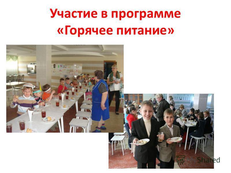 Участие в программе «Горячее питание»