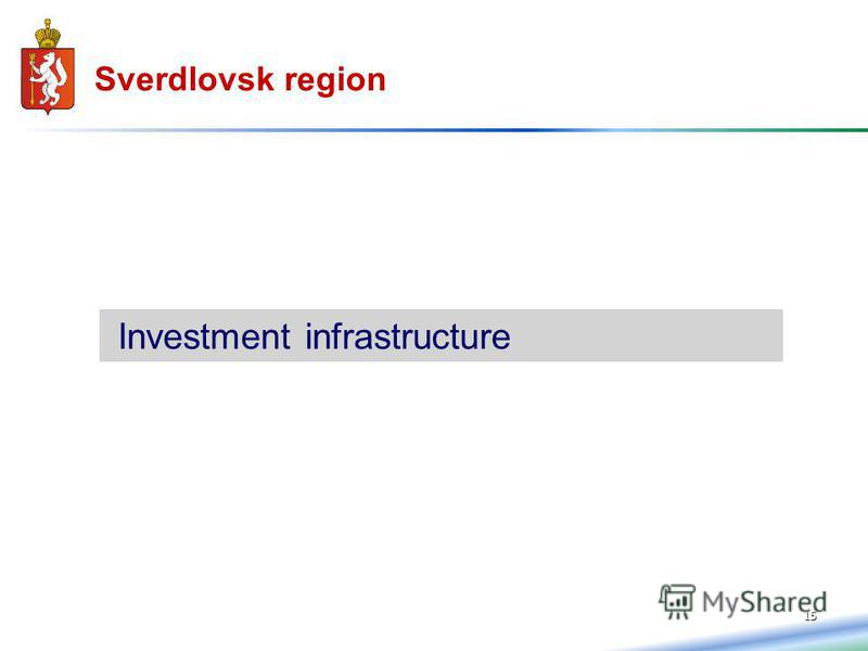 15 Sverdlovsk region Investment infrastructure
