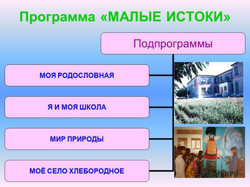 Программа «МАЛЫЕ ИСТОКИ»