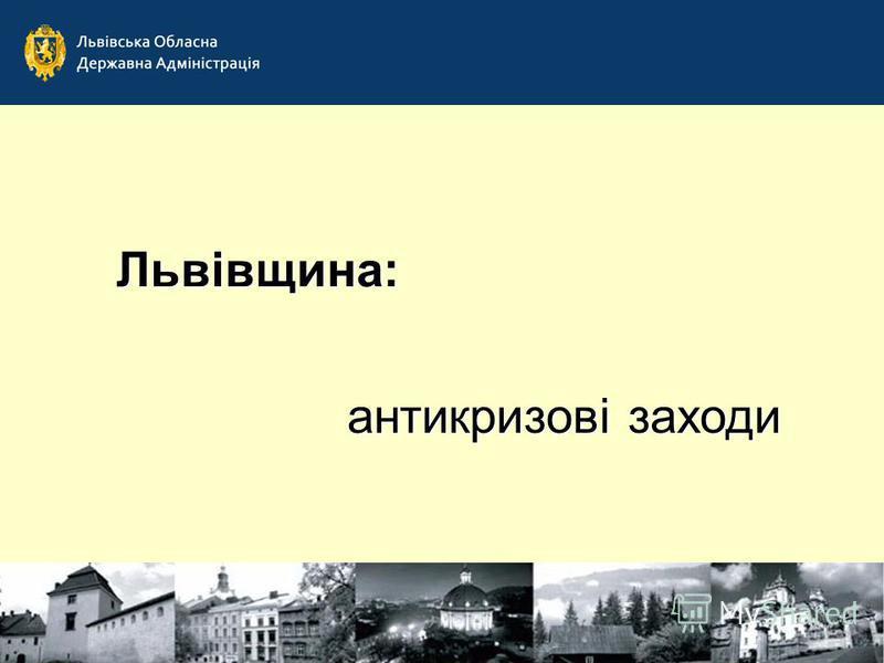 Львівщина: антикризові заходи