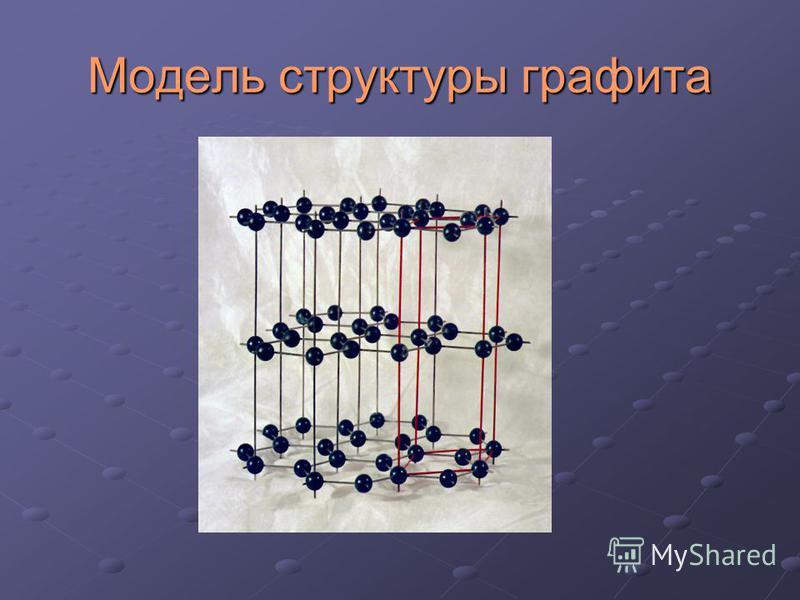 Модель структуры графита