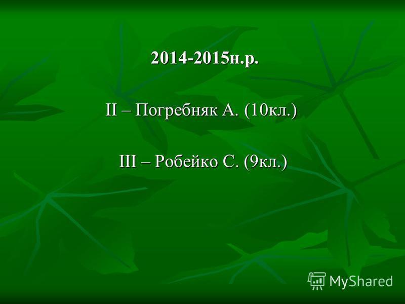 2013-2014н.р. ІІ - Василенко М. (10 кл.) (Погребняк А. та Стародубова А. були хворі) ***