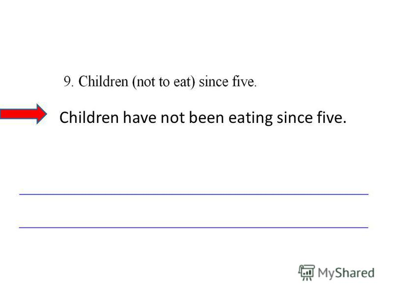 Children have not been eating since five.