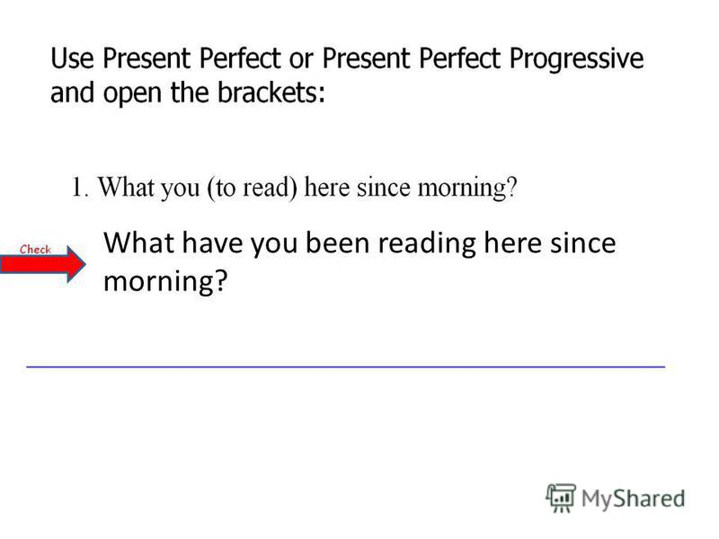 What have you been reading here since morning?