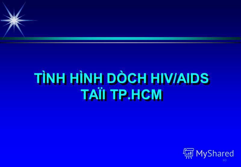 60 TÌNH HÌNH DÒCH HIV/AIDS TAÏI TP.HCM