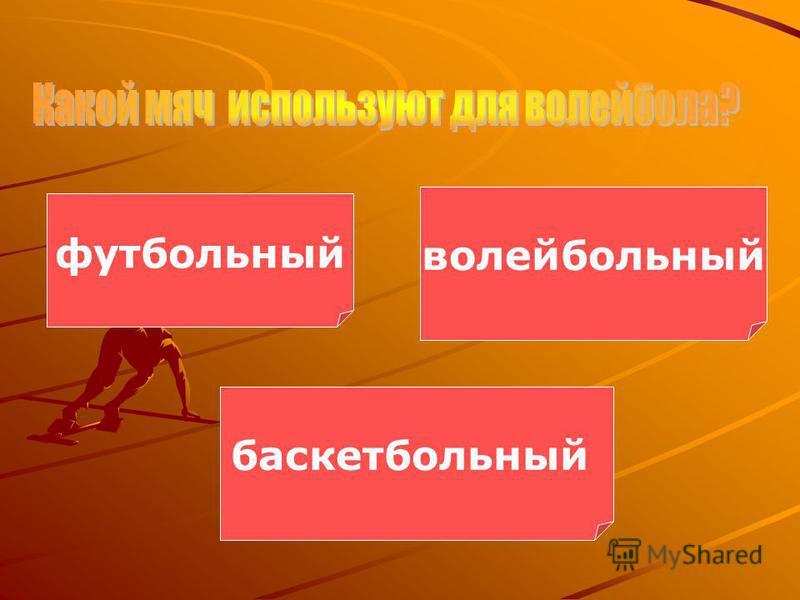 футбольный волейбольный баскетбольный