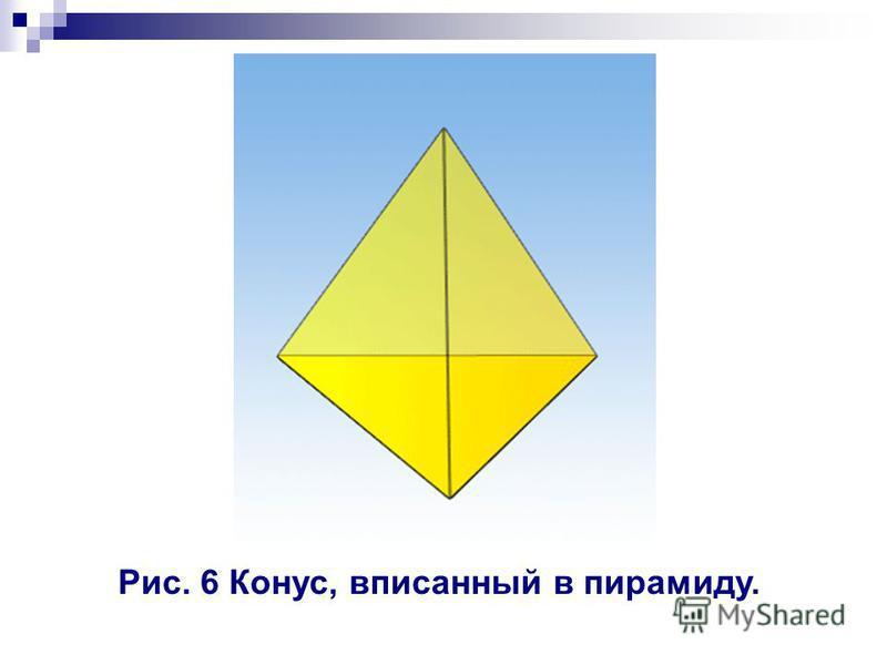 Рис. 6 Конус, вписанный в пирамиду.