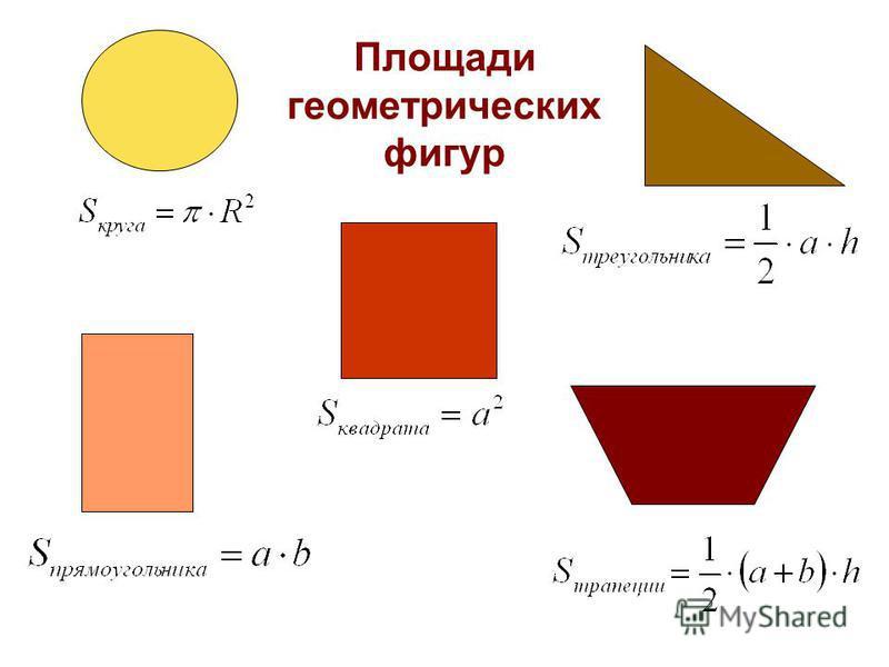 Площади геометрических фигур