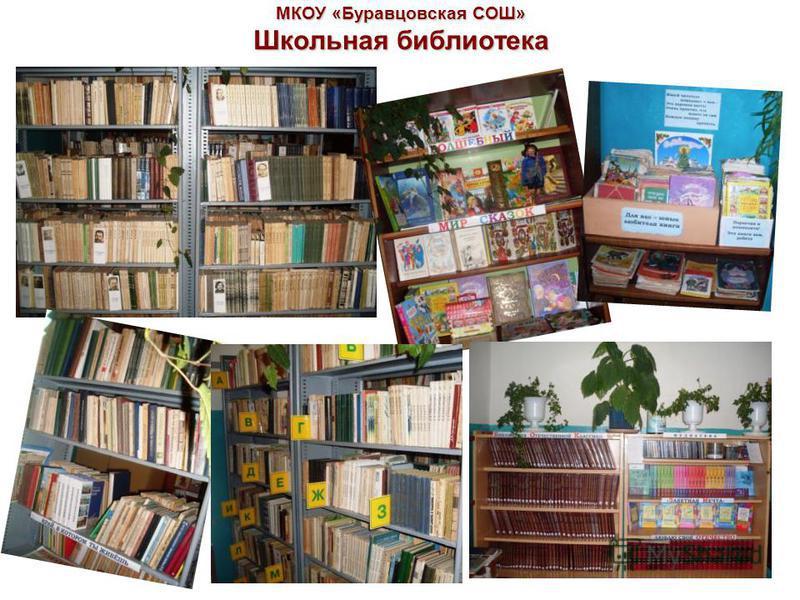 МКОУ «Буравцовская СОШ» Школьная библиотека