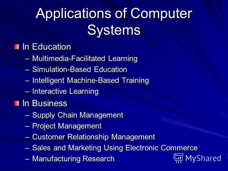 computer application in education Computer applications in education,graphics & multimedia 1 computer presentation topic computer applications in education,graphics & multimedia made by:- anant kumar bcom(hons) section a 2 computer application in education 3 computers have become the life line of young generation.
