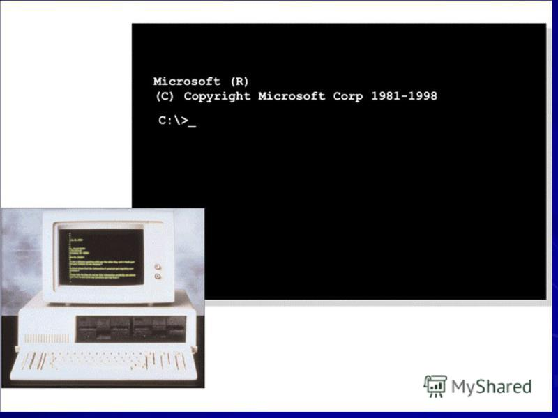 DOS DOS stands for disk operating system. –Developed by Microsoft and introduced in IBM-PC. –Uses command-line interface. –Has been incorporated into Windows OS –Operates behind the scenes so Windows users do not have to memorize and type complex com