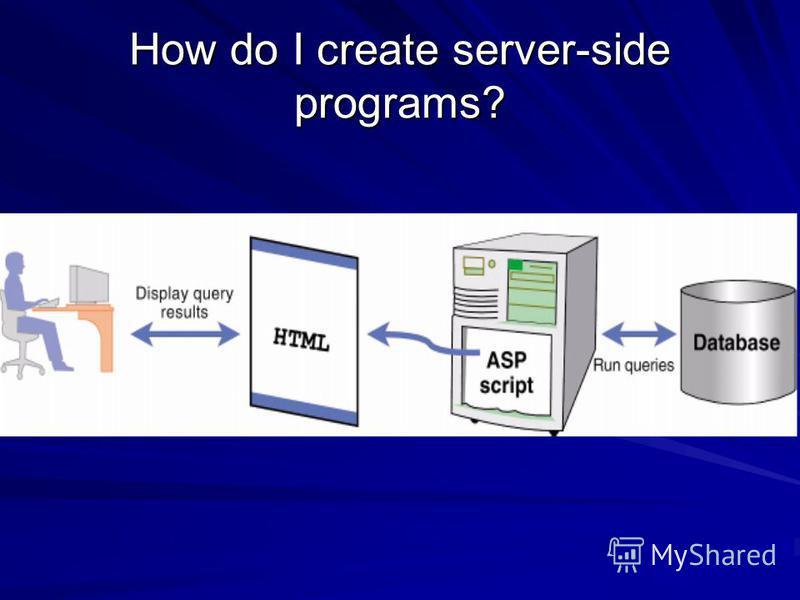 How do I create server-side programs?