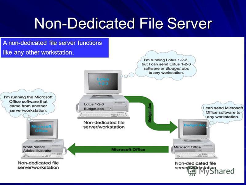 Dedicated server and non dedicated server