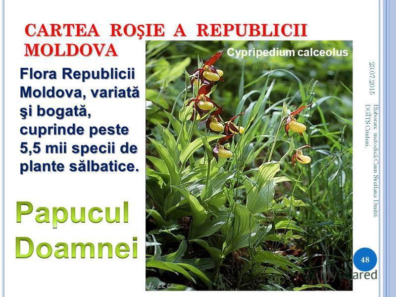 CARTEA ROIE A REPUBLICII MOLDOVA 23.07.2015 47 Elaborare metodic ă.Caun Svetlana Dmitri. DGÎTS Criuleni.