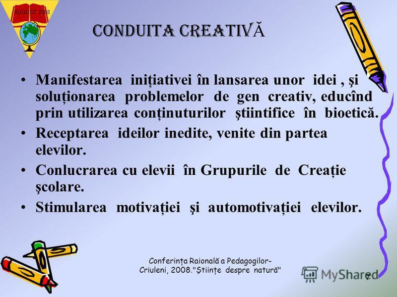 Conferinţa Raională a Pedagogilor- Criuleni, 2008.