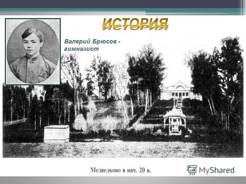 Валерий Брюсов - гимназист