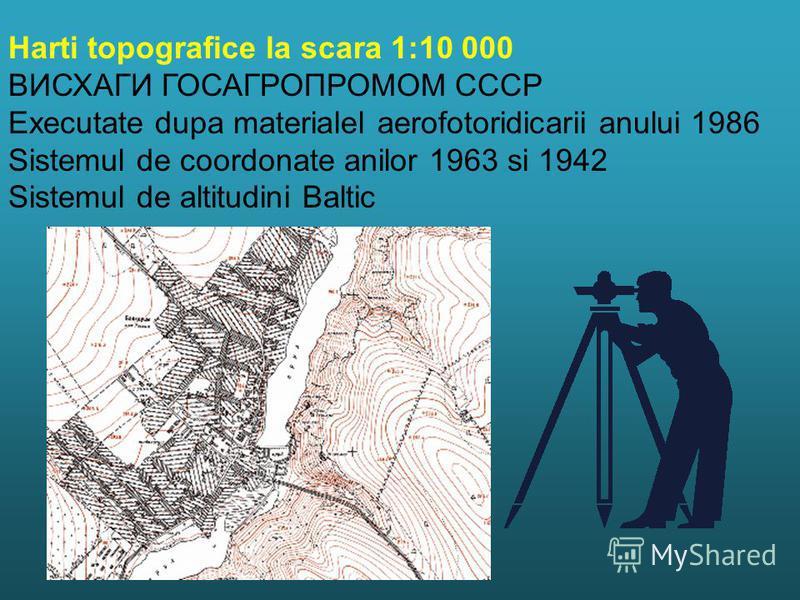 ВИСХАГИ ГОСАГРОПРОМОМ СССР Executate dupa materialel aerofotoridicarii anului 1986 Sistemul de coordonate anilor 1963 si 1942 Sistemul de altitudini Baltic