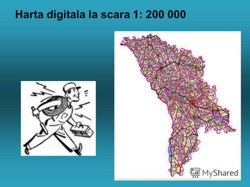 Harta digitala la scara 1: 200 000