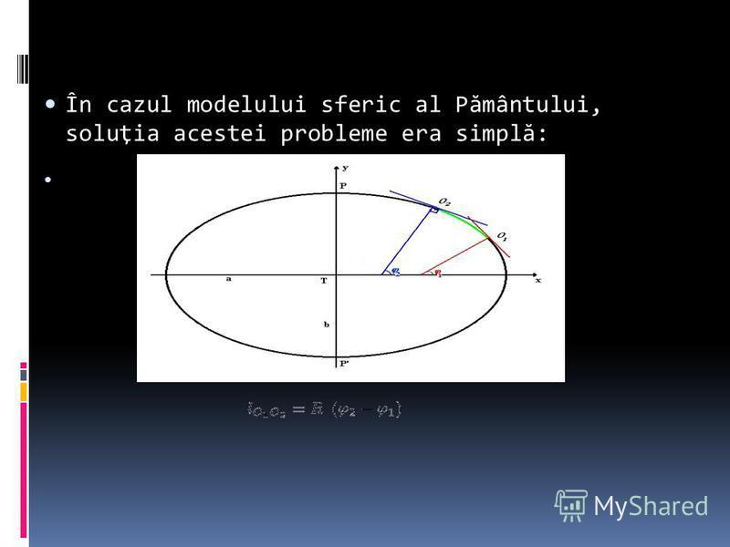 În cazul modelului sferic al P ă mântului, soluţia acestei probleme era simpl ă :