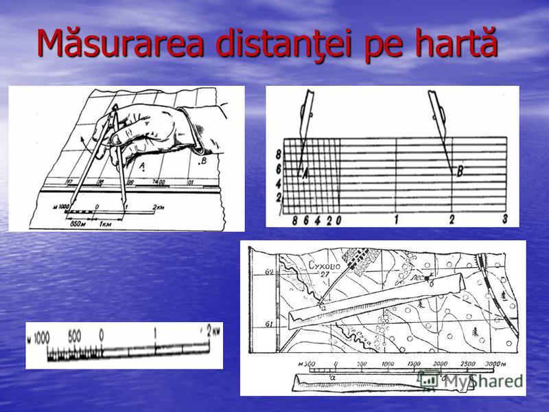 Măsurarea distanţei pe hartă